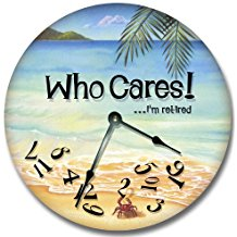 who-cares-beach-theme-wall-clock-18 The Best Beach Wall Clocks You Can Buy