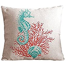6-starfish-coral-throw-pillow-cover Coastal Throw Pillows & Beach Throw Pillows