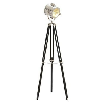 Deco-79-Unique-Lamps-Wood-Metal-Studio-Light Coastal And Beach Floor Lamps