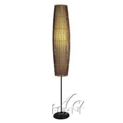 Floor-Lamp-with-Bamboo-Design-in-Natural-Finish Coastal And Beach Floor Lamps