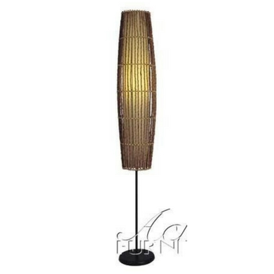 Floor Lamp with Bamboo Design in Natural Finish