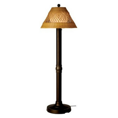 Java-Bronze-Floor-Lamp-With-Antique-Honey-Shade Coastal And Beach Floor Lamps