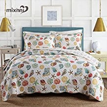 Shell-Pattern-Quilt The Best Kids Beach Bedding You Can Buy