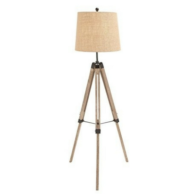 The-Elegant-Wood-Metal-Tripod-Floor-Lamp Coastal And Beach Floor Lamps