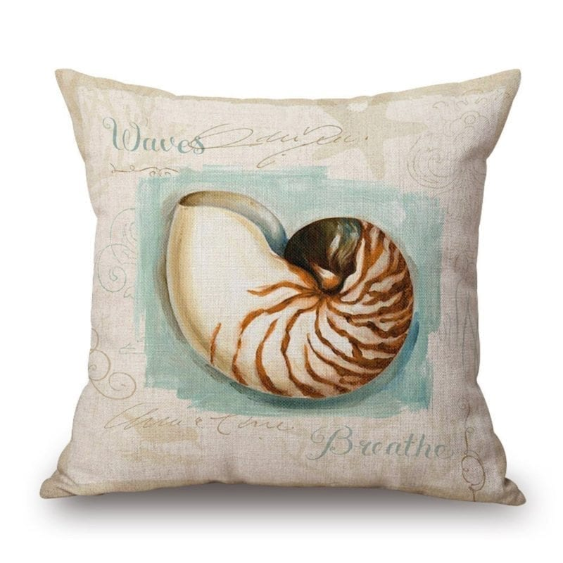 a-conch-beach-themed-throw-pillow-800x800 Coastal Throw Pillows & Beach Throw Pillows