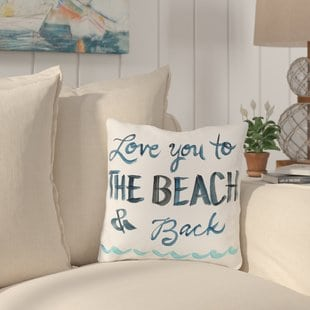 azariah-love-you-to-the-beach-throw-pillow Coastal Throw Pillows & Beach Throw Pillows
