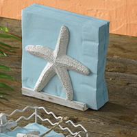 beach-napkin-holders-1 Best Beach and Coastal Kitchen Decor