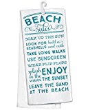 beach-words-kitchen-towel Best Beach and Coastal Kitchen Decor