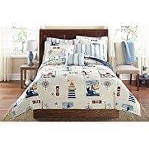 blue-red-kids-lighthouse-bedding-set The Best Kids Beach Bedding You Can Buy
