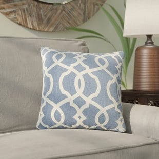 brennan-damask-throw-pillow Coastal Throw Pillows & Beach Throw Pillows