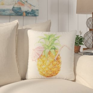 easington-pineapple-drink-beach-throw-pillow Coastal Throw Pillows & Beach Throw Pillows