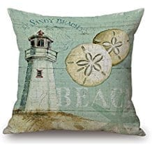 happy-cool-sandy-beach-sand-dollar-lighthouse-throw-pillow Coastal Throw Pillows & Beach Throw Pillows