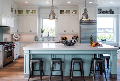 20 beautiful beach themed kitchen designs for Beach inspired kitchen designs