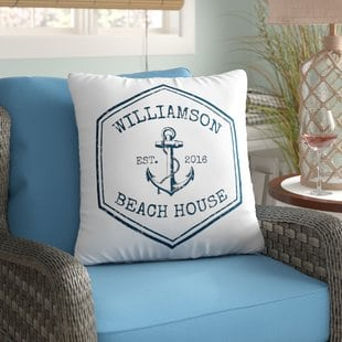 personalized-beach-house-throw-pillow Coastal Throw Pillows & Beach Throw Pillows