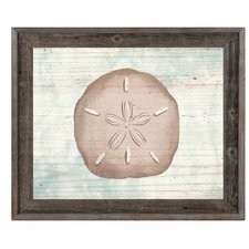 rustic-sand-dollar-ivory-framed-painting The Best Sand Dollar Wall Art You Can Buy