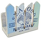 seafood-shack-napkin-holder Best Beach and Coastal Kitchen Decor