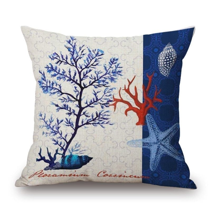 starfish-coral-shell-throw-pillow-800x800 Coastal Throw Pillows & Beach Throw Pillows