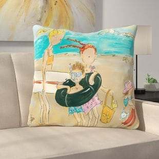 to-the-beach-throw-pillow Coastal Throw Pillows & Beach Throw Pillows
