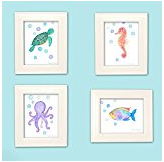 under-sea-watercolor The Best Seahorse Artwork You Can Buy