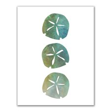 watercolor-sand-dollar-painting-green-blue The Best Sand Dollar Wall Art You Can Buy