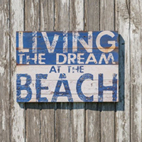 wood-beach-kitchen-signs Best Beach and Coastal Kitchen Decor