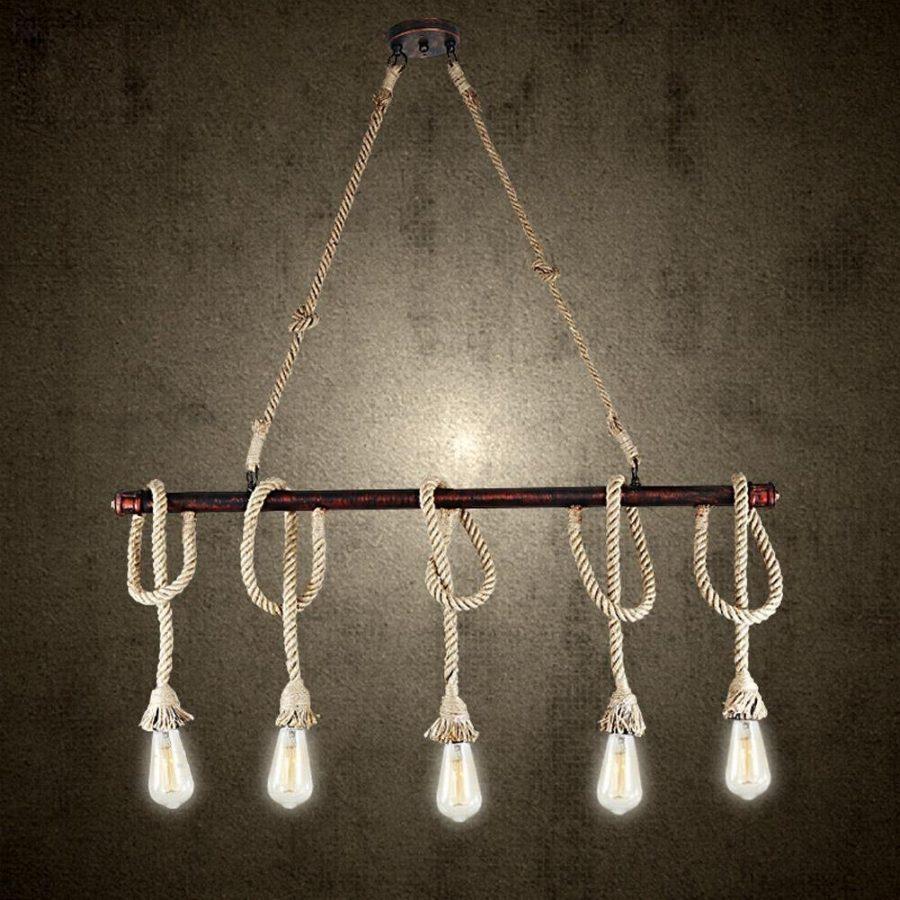 11-hanging-rope-chandelier Nautical Chandeliers