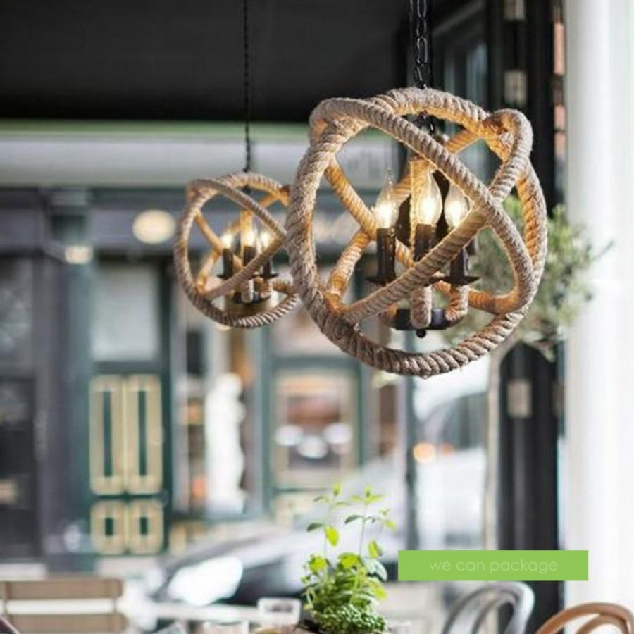 2-burlap-rope-chandelier The Best Nautical Chandeliers You Can Buy