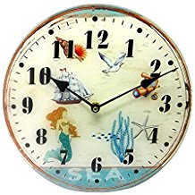5-coastal-mermaid-sea-life-wall-clock The Best Beach Wall Decor You Can Buy