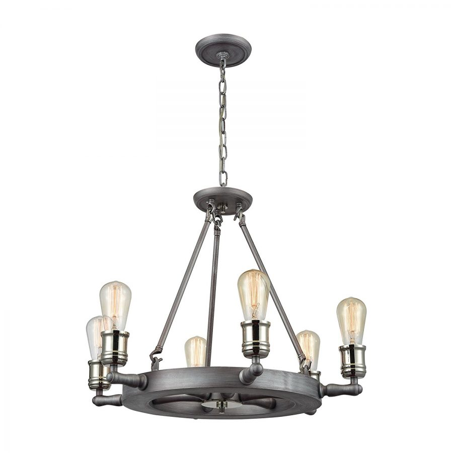 9-shipwheel-nautical-chandelier Nautical Chandeliers