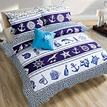 Auvo-Boys-Bedding-Sailboat-Anchor-Rudder-Nautical-Theme-Kids-Bedding-Set The Best Nautical Duvet Covers You Can Buy