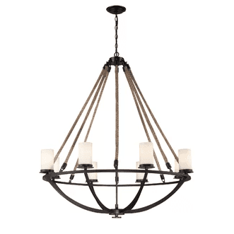 Ballantine-Rope-Shaded-Chandelier-by-Beachcrest-Home The Best Beach Themed Chandeliers You Can Buy