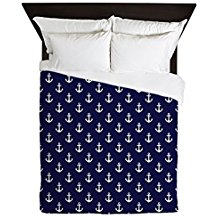 CafePress-Blue-Anchors-Queen-Duvet-Cover The Best Nautical Duvet Covers You Can Buy