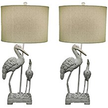 Coastal-Crane-Birds-Beach-Lamps The Best Beach Themed Lamps You Can Buy