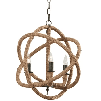 Corsair Rope Foyer Pendant Chandelier Beach Themed Chandeliers
