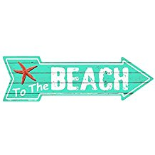 To-The-Beach-Metal-Arrow-Sign The Best Beach Wall Decor You Can Buy