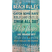 beach-rules-wooden-wall-decor-9 The Best Beach Wall Decor You Can Buy