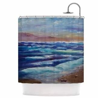 beach-shower-curtain Beach Bathroom Decor
