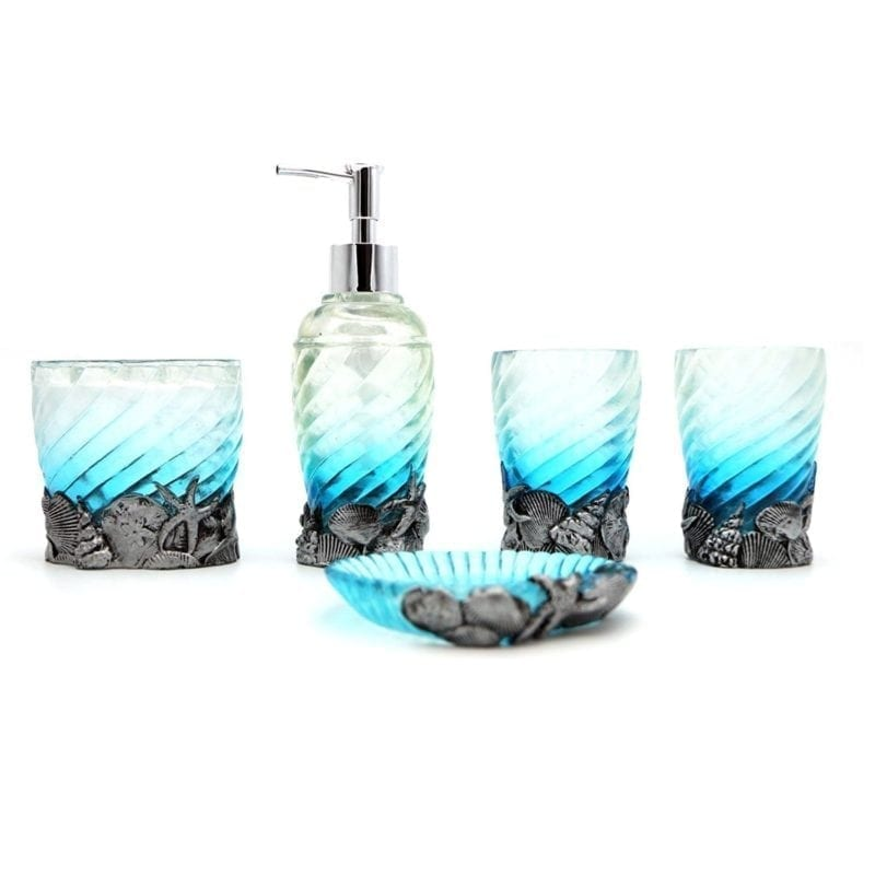 blue-beach-bathroom-accessory-set-800x800 Beach Bathroom Decor