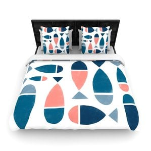 fish-woven-duvet-cover The Best Nautical Duvet Covers You Can Buy