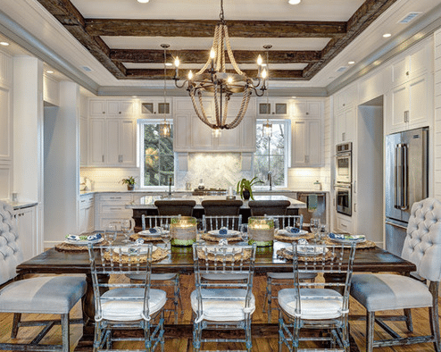 ink architecture and interiors - sullivans island beach home - nautical chandelier