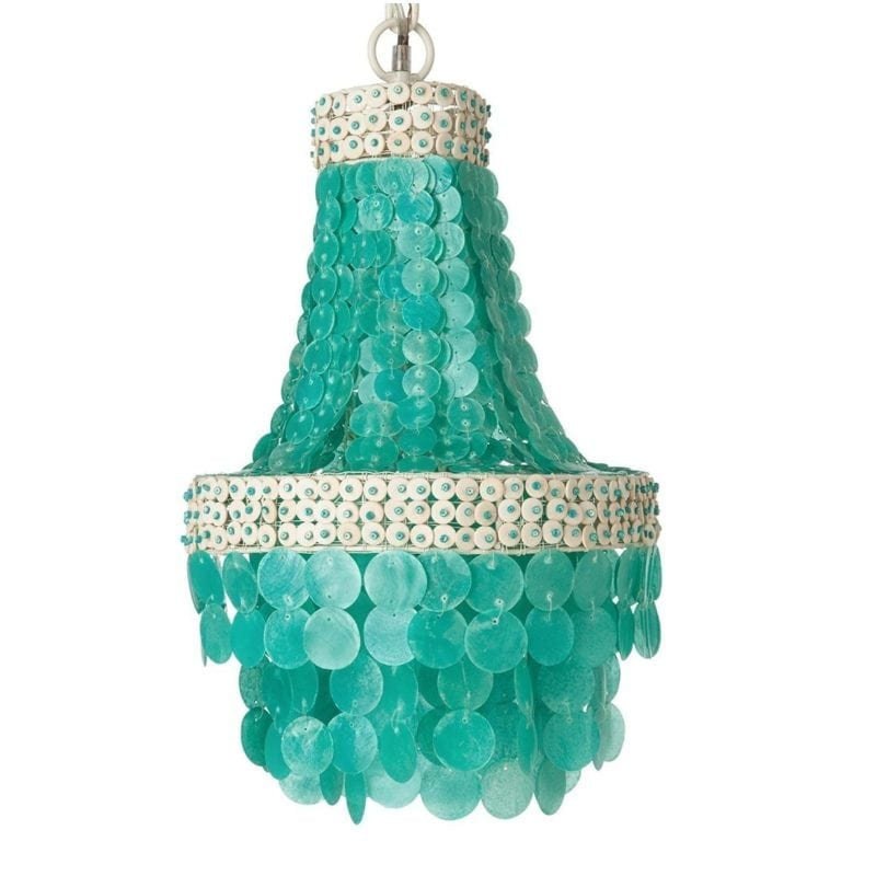 kouboo-manor-capiz-seashell-turquoise-chandelier-1-800x800 Nautical Chandeliers