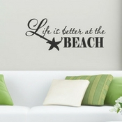 life-is-better-at-the-beach-wall-decal The Best Beach Wall Decor You Can Buy