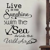 live-in-sunshine-swim-the-sea-wall-sticker The Best Beach Wall Decor You Can Buy