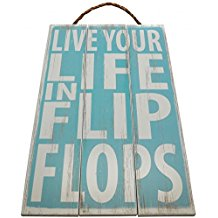 live-your-life-in-flip-flops-wooden-sign-11 The Best Beach Wall Decor You Can Buy
