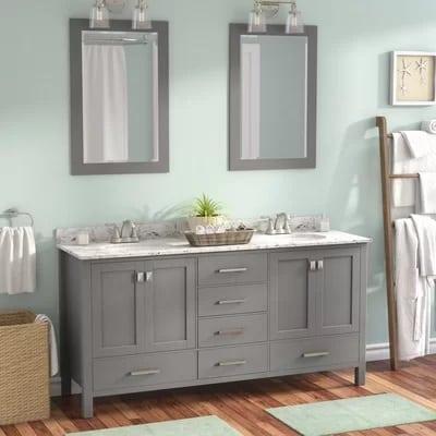 newtown-double-vanity-bathroom-beach Beach Bathroom Decor