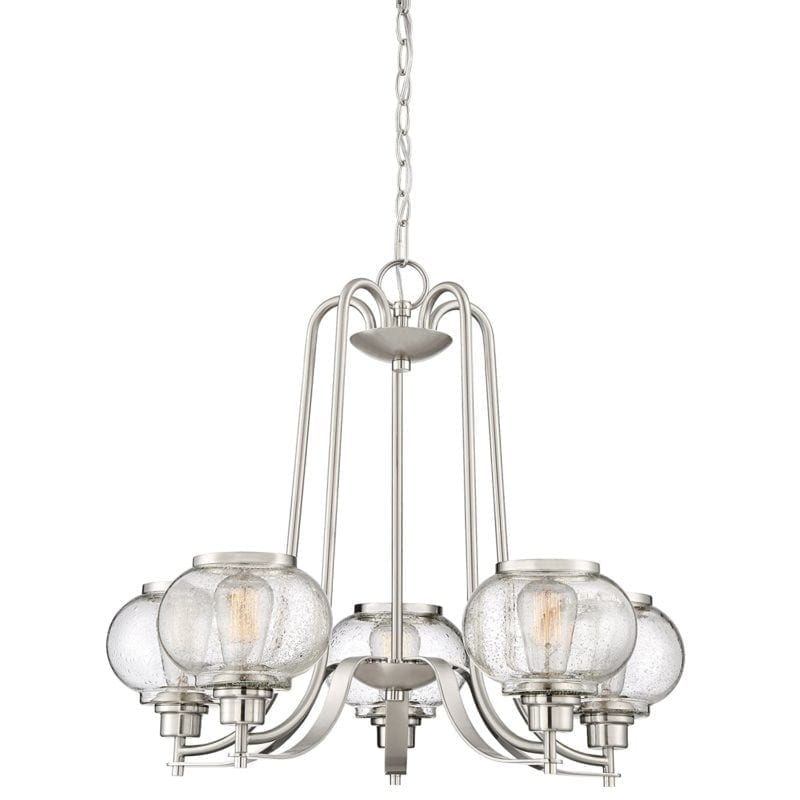 quoizel-5-light-glass-shade-chandelier-800x800 Nautical Chandeliers