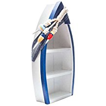 standing-blue-and-white-boat-shelf The Best Beach Wall Decor You Can Buy