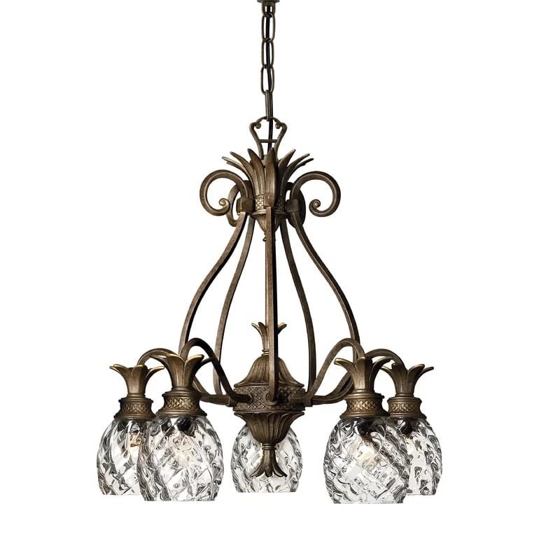 terry-5-light-shaded-chandelier Nautical Chandeliers