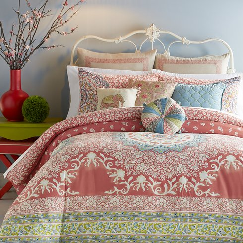 Amrita-Medallion-Comforter-Set Bohemian Bedding and Boho Bedding Sets