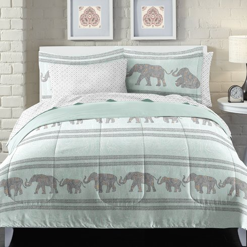 Boho-Elephant-Bed-in-a-Bag-Set Bohemian Bedding and Boho Bedding Sets
